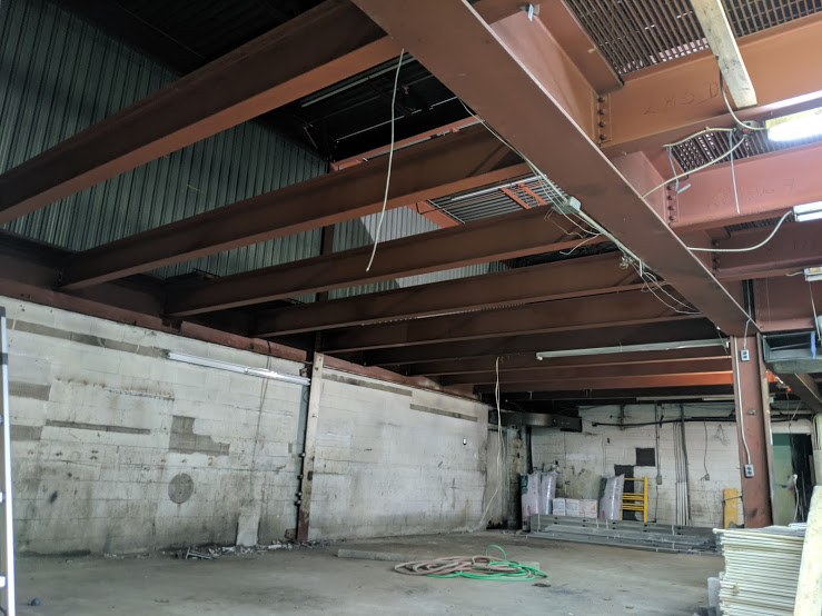 Erected Structural Steel Beams