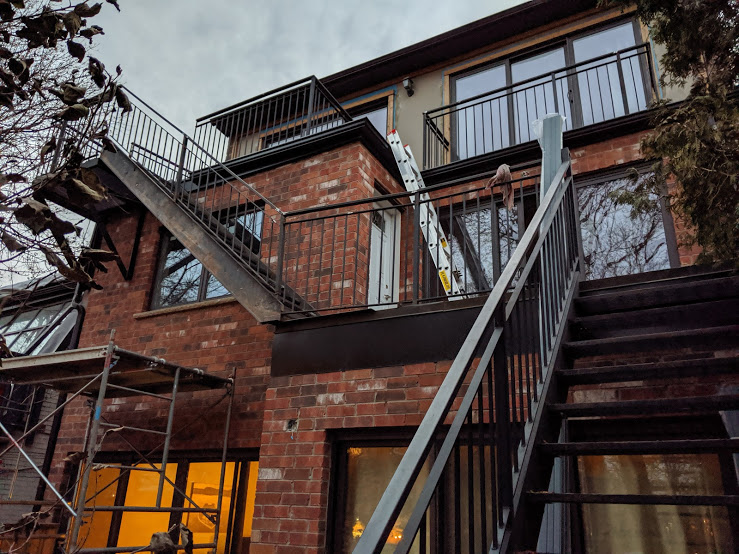 Erected and Welded Steel Fire Escape