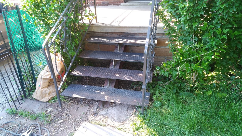 Welded and Installed New Steel Steps