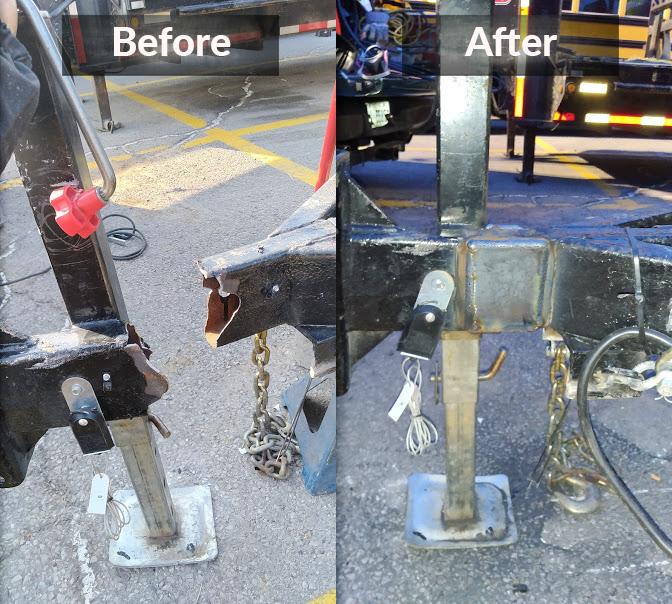 Rejoined a broken heavy duty trailer hitch with welding